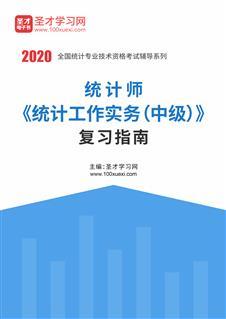 2020年统计师《统计工作实务(中级)》复习指南