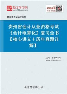 贵州省会计从业资格考试《会计电算化》复习全书【核心讲义+历年真题详解】